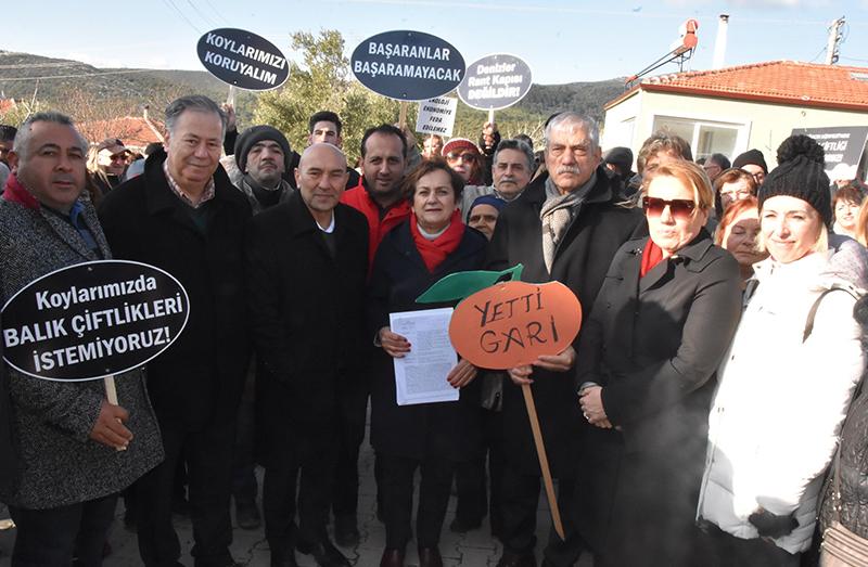 İzmir, Sığacık'ta orkinos çiftliğine karşı çıkan yurttaşlar ÇED toplantısını yaptırmadı!
