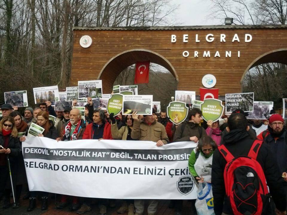 Kuzey Ormanları Savunması'ndan Belgrad Ormanı'nda dekovil/tren hattı projesine karşı zafer ilanı
