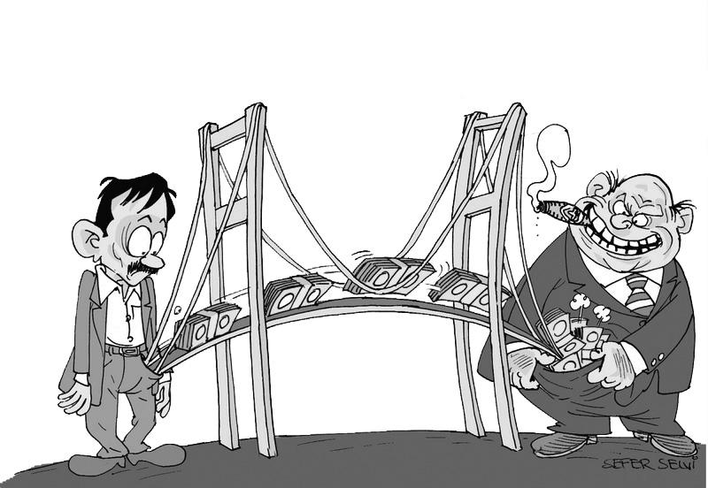 """Köprü ve otoyollardan geçiş yüzde 17 azaldı, Deli Dumrul'un """"zararı"""" milletin cebinden ödenecek!"""