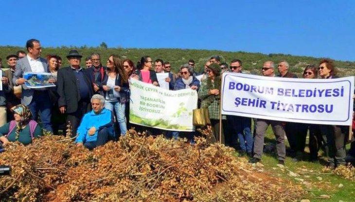 Bodrum, Kargıcak Koyu'nda 'Ormanıma Dokunma' eylemi