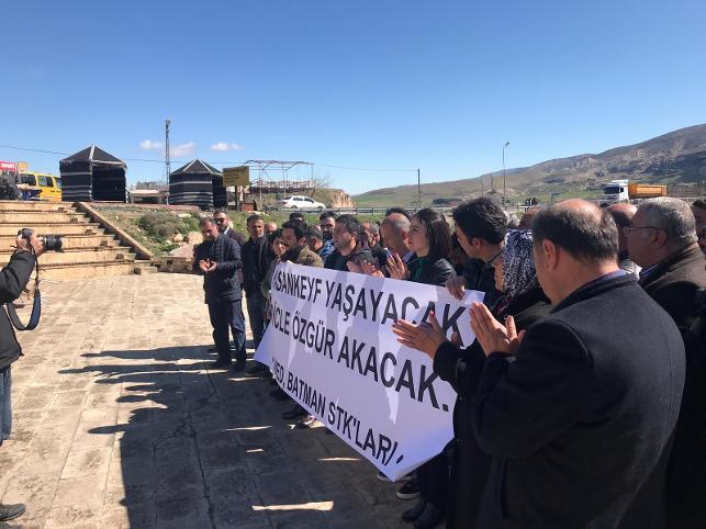 Sivil Toplum Örgütleri, AİHM kararını Hasankeyf'te protesto etti