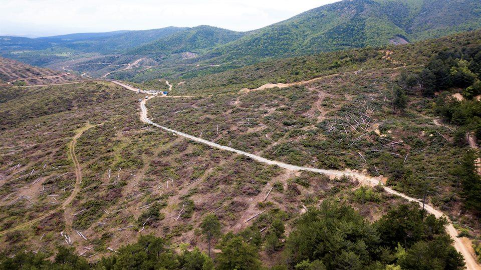 """Kanadalı maden şirketi """"Alamos Gold"""" Kaz Dağları'nda orman katletmeye devam ediyor!"""