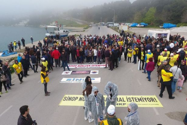 Çernobil'in 33. yıldönümünde Sinop ve İstanbul'da nükleer karşıtı eylemler
