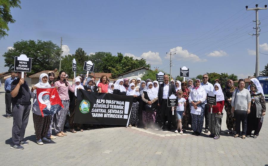 Alpulu Kadınlar: Termik santrale asla izin vermeyeceğiz