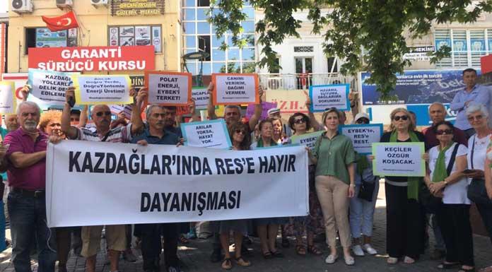 """Kazdağları'nda RES'e Hayır Dayanışması: """"Eybek Dağı'nda RES istemiyoruz!"""""""