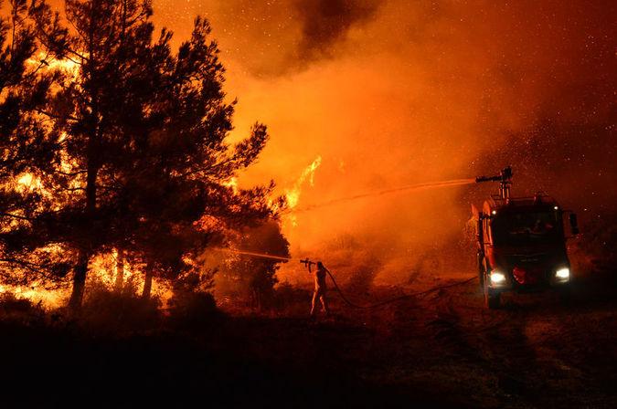Talandan kurtulanı yangın kül ediyor