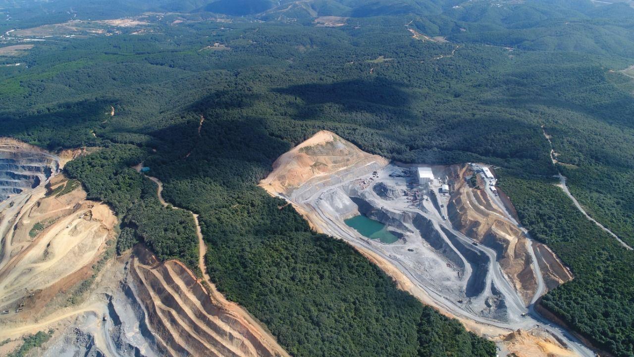 Kuzey Ormanlarının içinde ur gibi yayılan taş ocakları havadan görüntülendi