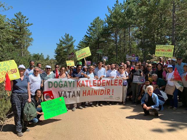Kadıköy'den maden direnişine büyük destek: Her yer Kaz Dağı her yer direniş!