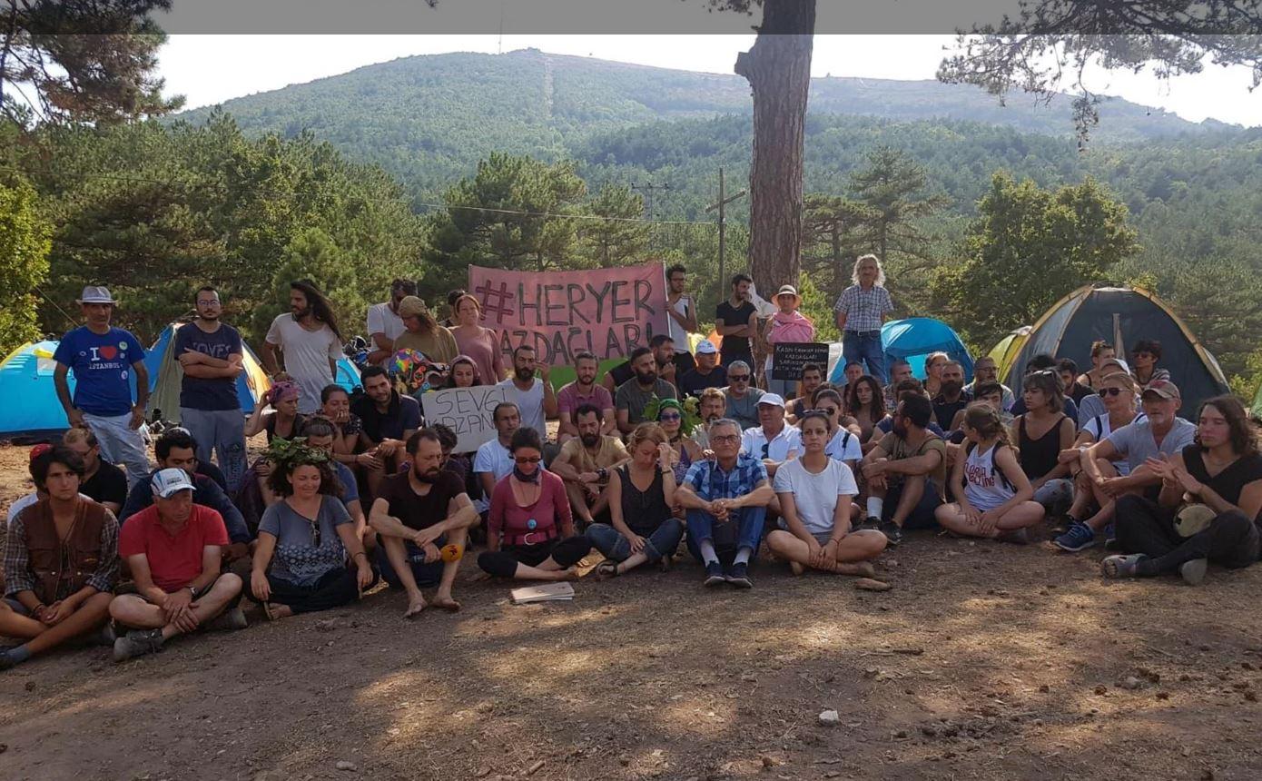 Kaz Dağları'nda çadırlı nöbet eylemi sürüyor
