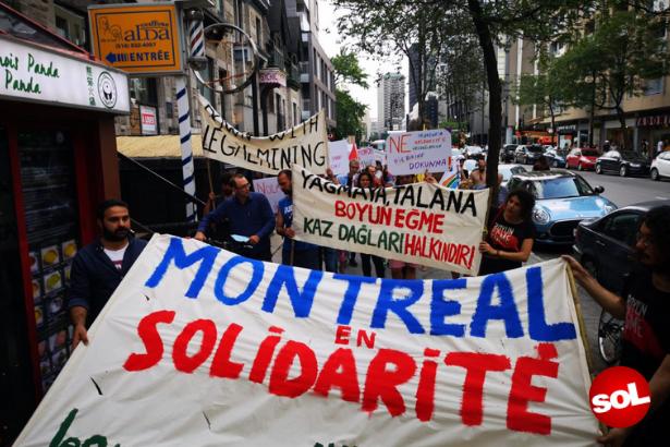 Kanada'da Kaz Dağları altın madeni girişimi protesto edildi