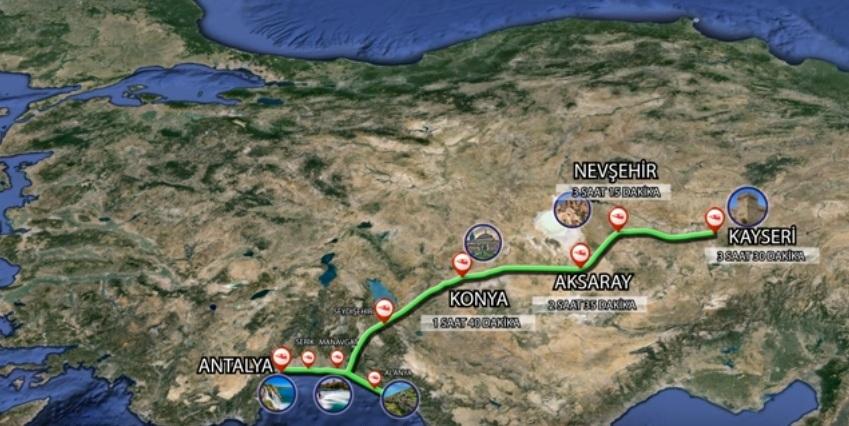 Bir çılgın proje daha: Antalya'dan Kayseri'ye doğa ve kültürün üzerinden tren geçecek!