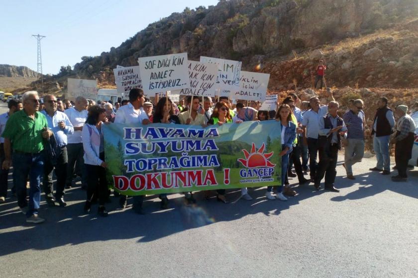 Antep'in ciğeri Sof Dağı'ndaki maden işgaline karşı yürüyüş düzenlendi