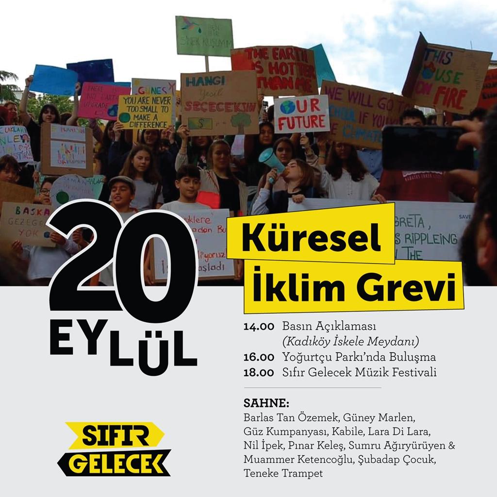 20 Eylül büyük iklim grevinde Türkiye'de 15 ayrı noktada eylemler olacak; İstanbul'da Kadıköy'deyiz!