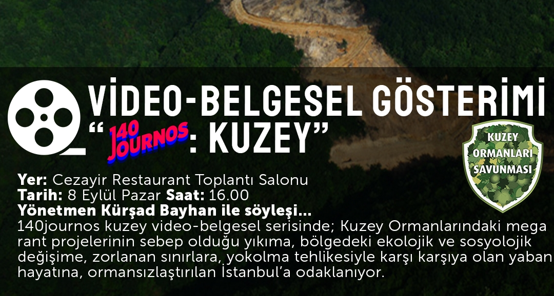 """8 Eylül Pazar 16'da """"140Journos: Kuzey"""" belgesel gösterimi"""