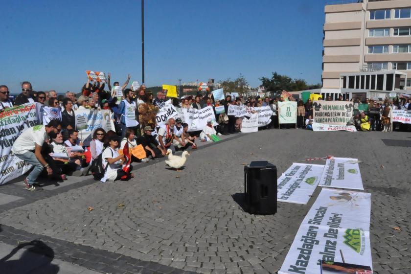 Çanakkale'de Kaz Dağları için eylem düzenlendi: Ruhsat yenilenmesin!