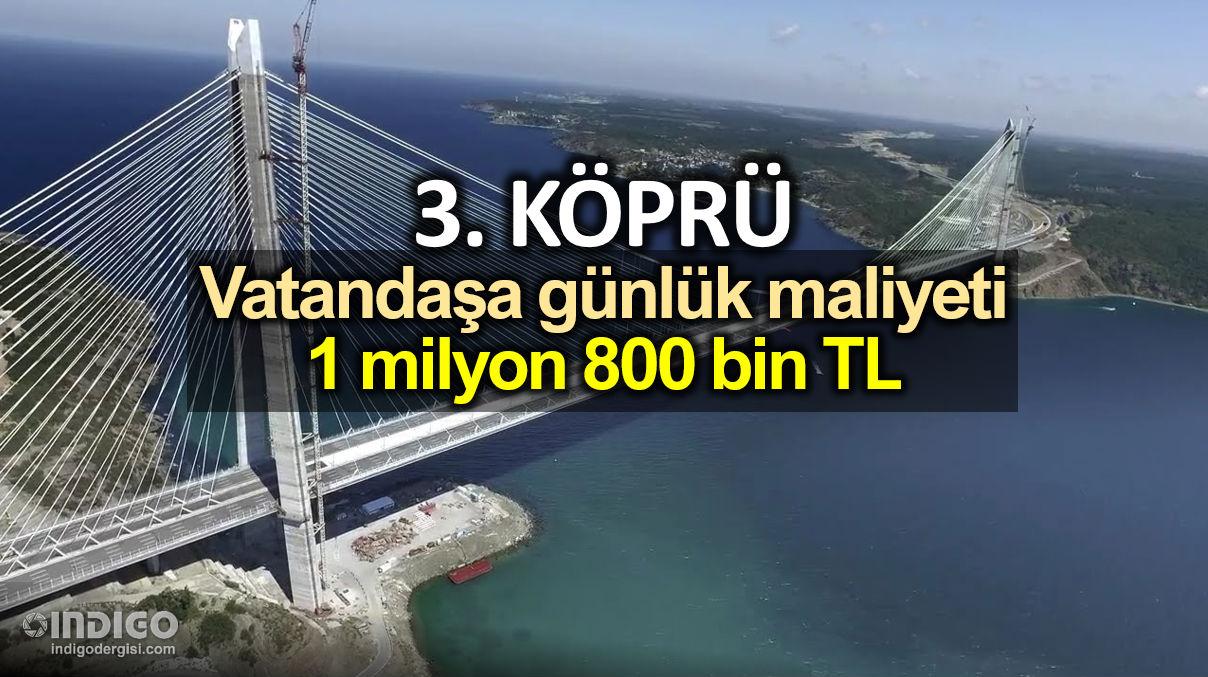 3. Köprüde Araç Geçiş Garantisinin Üçte Birine Bile Ulaşılamadı!