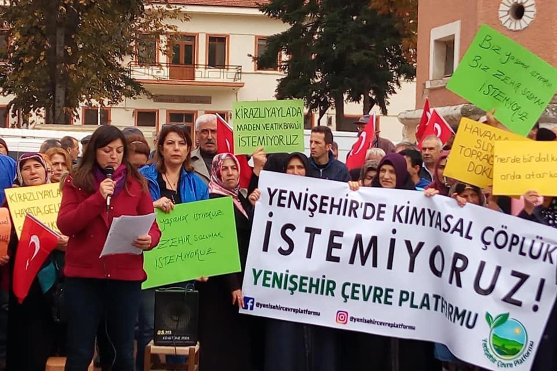 Bursa Yenişehir halkı, maden zenginleştirme tesisi istemiyor