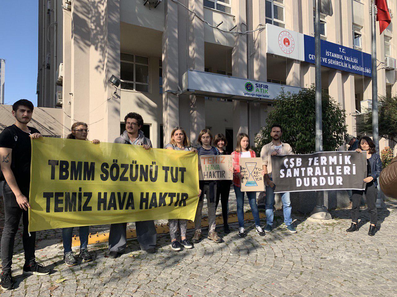 Temiz Hava Hakkı İçin İstanbul'da Eylem: TBMM Sözünü Tut!