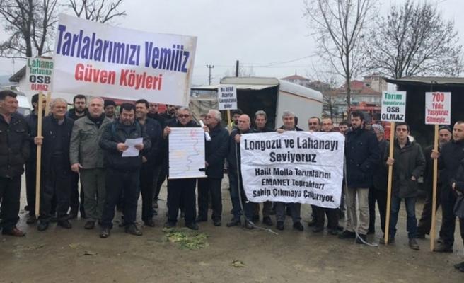 Kimya Organize Sanayi'ye karşı longoz ve lahanayı savunan Sakarya – Kocaali halkına komşu ilçeden destek geldi