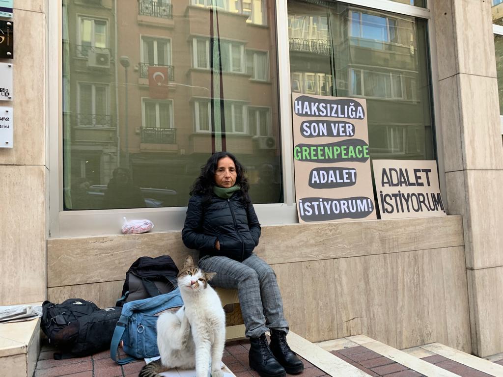 Greenpeace önünde eylem: Adalet istiyorum!