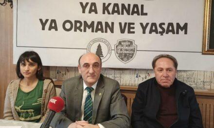 türkiye ormancılar derneği ve kuzey ormanları savunması'ndan kanal istanbul hakkında ortak basın açıklaması