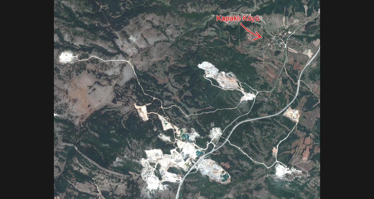 Kuzey Ormanları Kırklareli kapaklı mevkilerine taş ocağı yağmuru devam ediyor